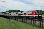 Empire Builder #8 with the Veterans tribute makes its last assigned trek east