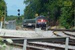 Hiawatha 336 dashing thru a six-pak of red searchlights
