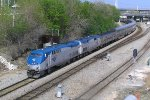 Recently resurrected P40DC 816 leads Empire Builder #7 Sunday thru Cutoff