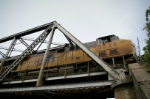 UP 5529 on the Bridge