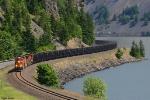 BNSF U-LAURBE0-13T - Loaded Coke train