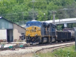 CSX 782 sits in the yard with a tied down local