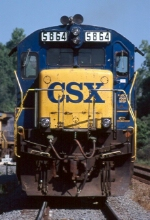 CSX B36-7 5864 (Note Roman style nose lettering)