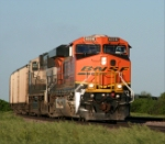 WB BNSF 6236 is seen rounding the curve @ M.P 88