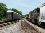 CSX 92 passed the derailment scene the next day
