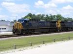 CSX 351 passes the platform