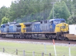 CSX 476 trailing unit on Intermodal train
