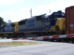 The Rocket, with CSX 8631, crossing New Kings Road