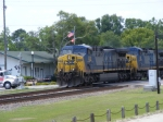 CSX 520 passes the station