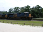 CSX 4832 passes the Platform