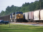 CSX 5105 passes another train
