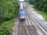 AMTK 171 crosses Mains leading #98 The Silver Meteor