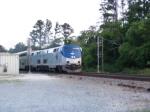The Auto Train rumbles through town