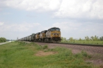 UP 5701 Leads A SB Unit Grain Train