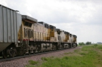 UP 5701 SB Unit Grain Train Reverse Consist