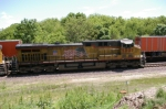 UP 5807 Leads A Stopped WB Coal Train