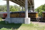 UP 6039 Is #2 On Stopped WB Coal Empties