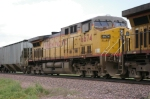 UP 6674 Is #3 In A SB Unit Grain Train.