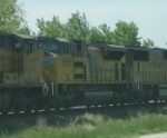 UP 8520 Is #2 On Stopped WB Autoracks