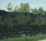 UP 9772 Is #3 On Stopped WB Autoracks