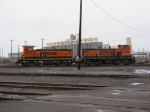 Two BNSF switchers at Rices Point Yard