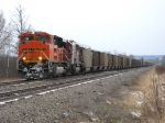 BNSF 9380 leads a coal train into Superior