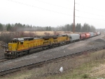 Consecutive UP C41's lead a potash train into Superior