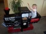 My Daughter, Brigid, Aboard a Little Person Train Ride at the BSV Offices/Museum/Gift Shop