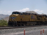 UP 7624 leads a WB doublestack at 11:57am
