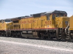 UP 9132 #3 power in an EB manifest at 1:23pm