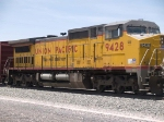 UP 9428 #4 power in an EB manifest at 1:23pm