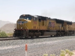 UP 3913 leads a WB doublestack at 12:10pm