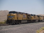 UP 5252 leads a WB doublestack at 12:53pm