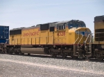 UP 4328 #2 unit in an EB doublestack/autorack at 1:50pm