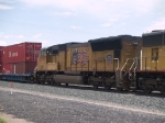 UP 4970 #4 unit in an EB doublestack/autorack at 1:21pm