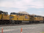 UP 7769 #3 unit in a WB doublestack at 1:44pm