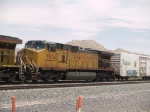 UP 9604 #4 unit in a WB doublestack at 1:44pm