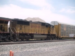 UP 4304 #2 power in a WB doublestack at 12:55pm