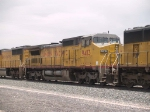 UP 9413 #2 power in an EB doublestack at 12:25pm