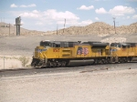 UP 8342 leads a WB doublestack IDILB at 2:52pm