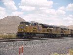 UP 8432 leads a WB doublestack at 12:38pm