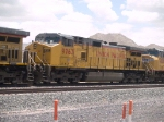 UP 9763 #3 power in a WB doublestack at 12:38pm