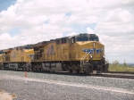 UP 5297 leads an EB doublestack at 12:42pm