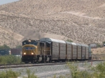 UP 4206 leads a WB autorack/doublestack at 1:28pm