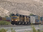 UP 4659 leads a WB doublestack at 1:44pm