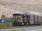 UP 5378 leads a WB autorack/doublestack at 12:55pm