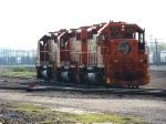EJ&E power backing onto a cola train @ Eola