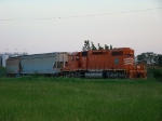 EJ&E 670 switching a local industry @ Plainfield Ill