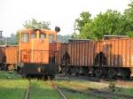 GE Switcher and CSX Ballast train