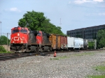 A westbound CN crosses the NS